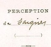 Note de la Perception