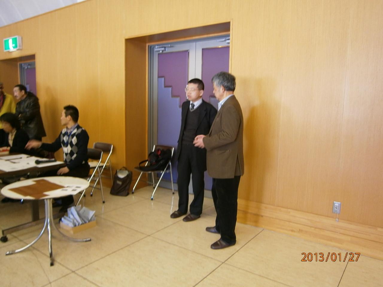 勝又先生と上原先生。いい大会にするためにさらに緻密な相談をされているようです。