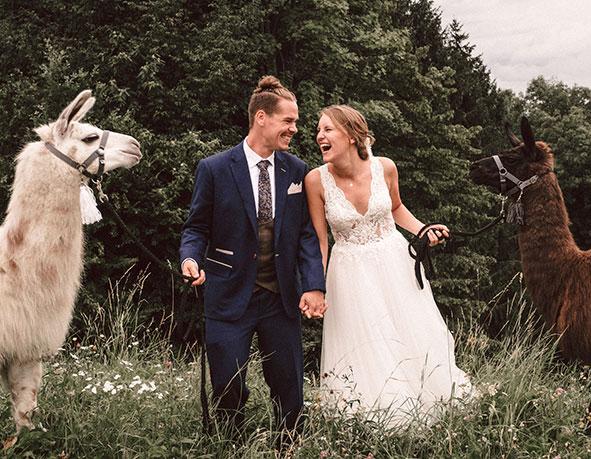 Hochzeits Lama Rosslhof Hubner Auszzeit Mit Pferd Lama Co