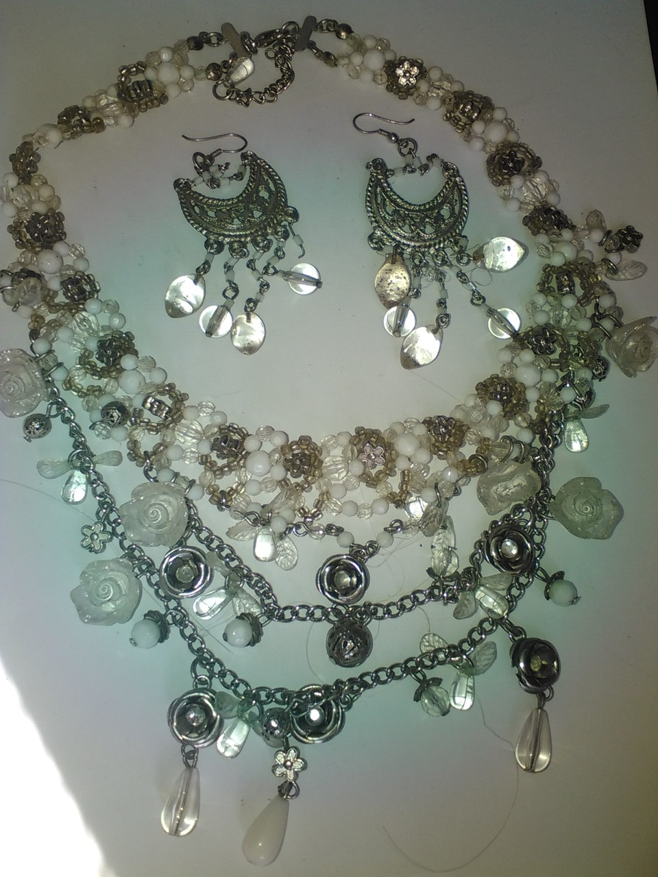collier perle blanc