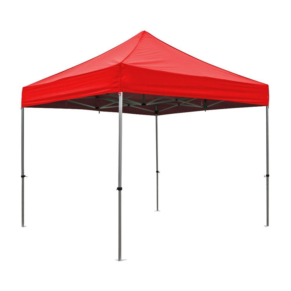 tenda apribile con tessuto rosso