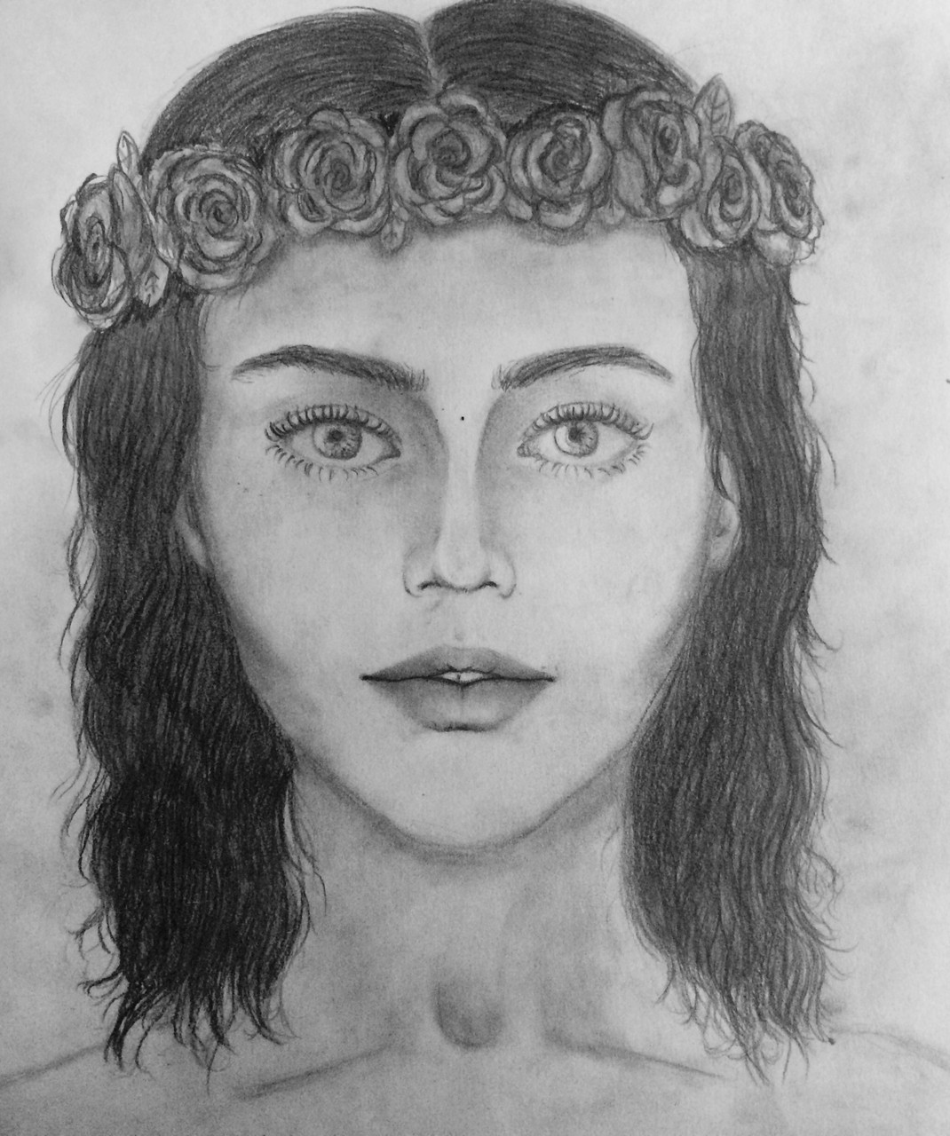 Frau mit Haarkanz