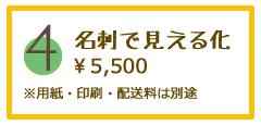 名刺で見える化。5500円。用紙、印刷、配送料は別途