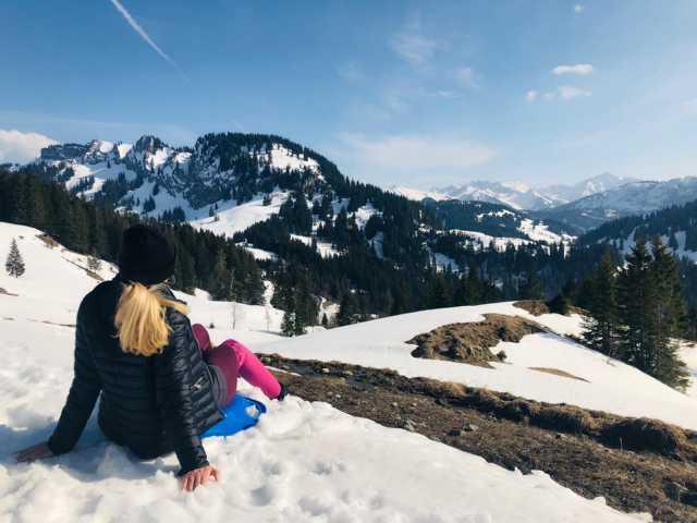 Bergkulisse im Schnee