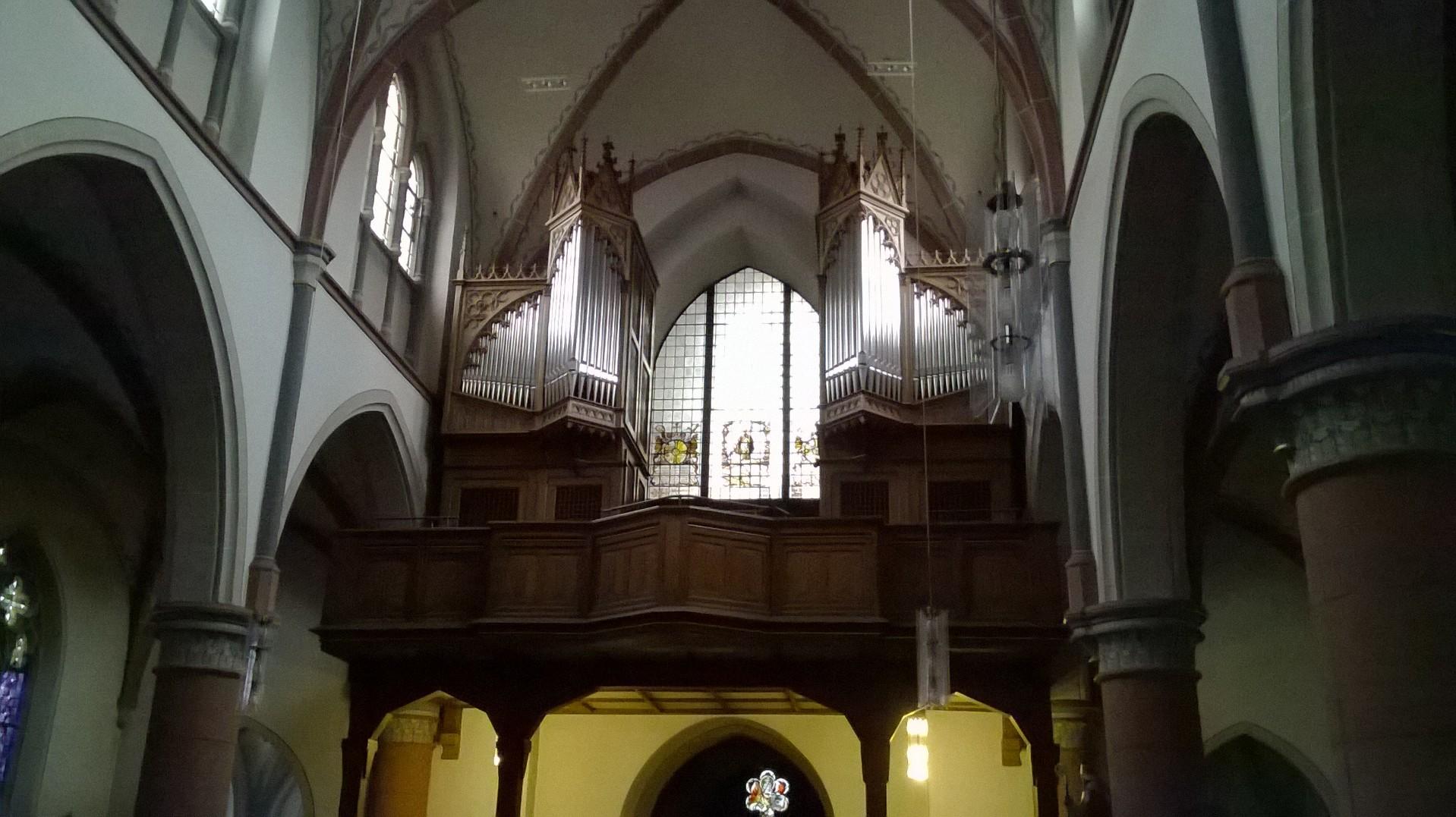 Die restaurierte Klais-Orgel In Bornheim-Hersel.