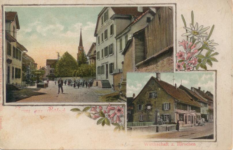 Ansichtskarte von 1915 mit Kreuzbrunnen