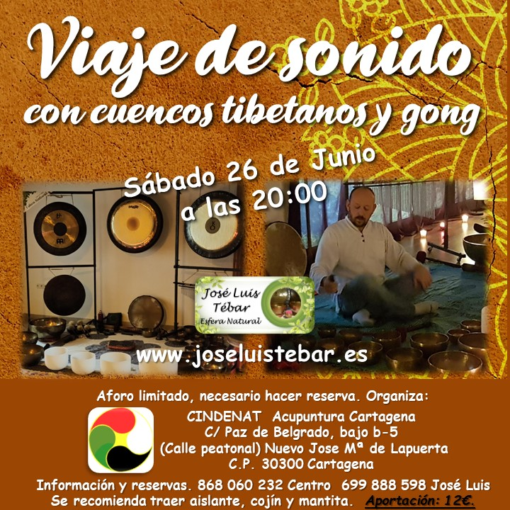 Viaje de sonido con cuencos tibetanos y Gong