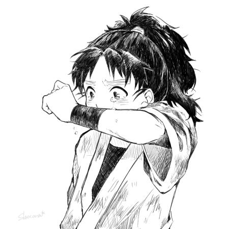 忍たま/小平太 泣き顔こへ描くの楽しかったです、ちなみに友人からのリクエストです。