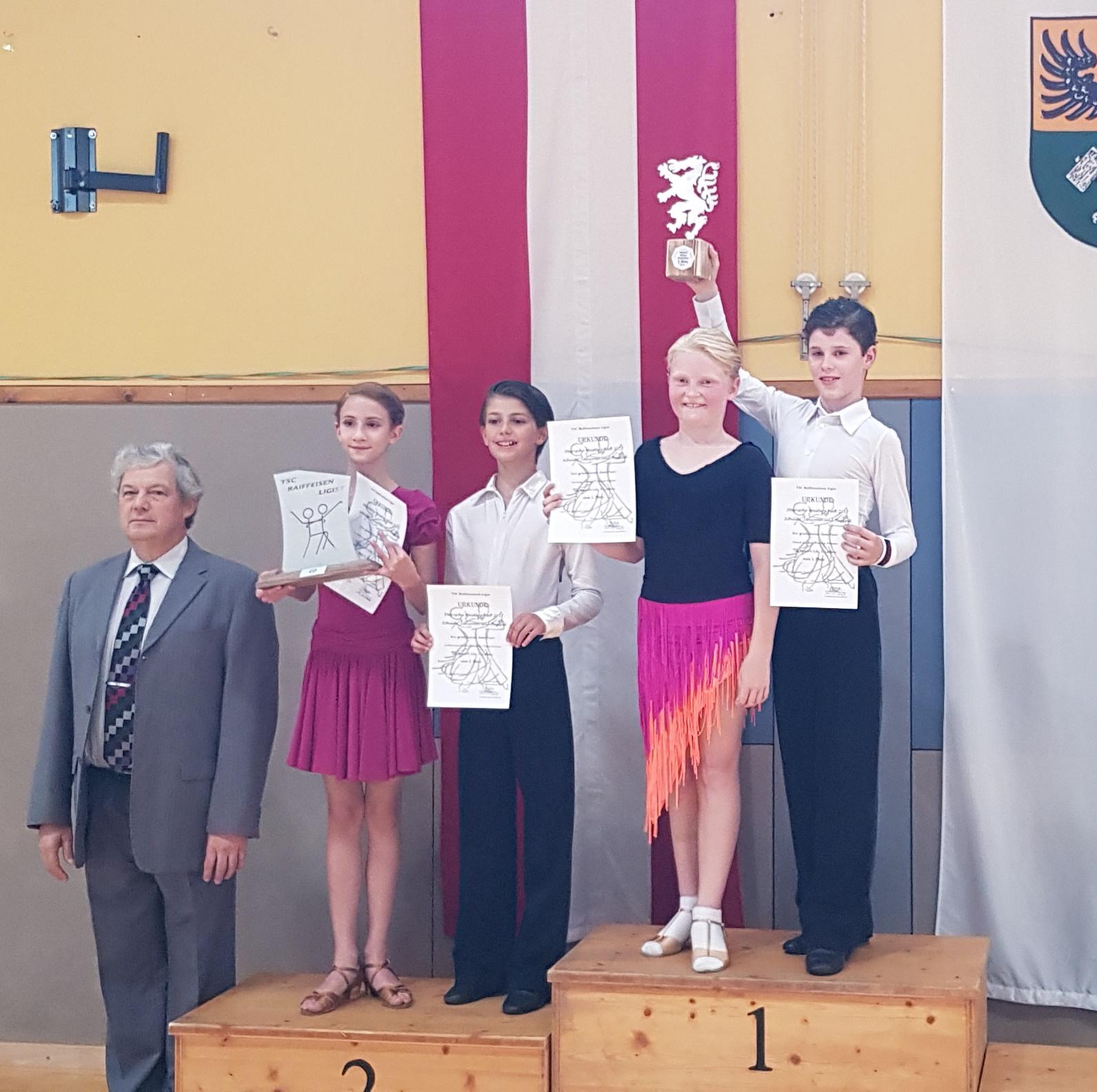 Schüler Latein D - 1.  David Aigner/Karina Pramer - TSK Blau-Gelb-Linz