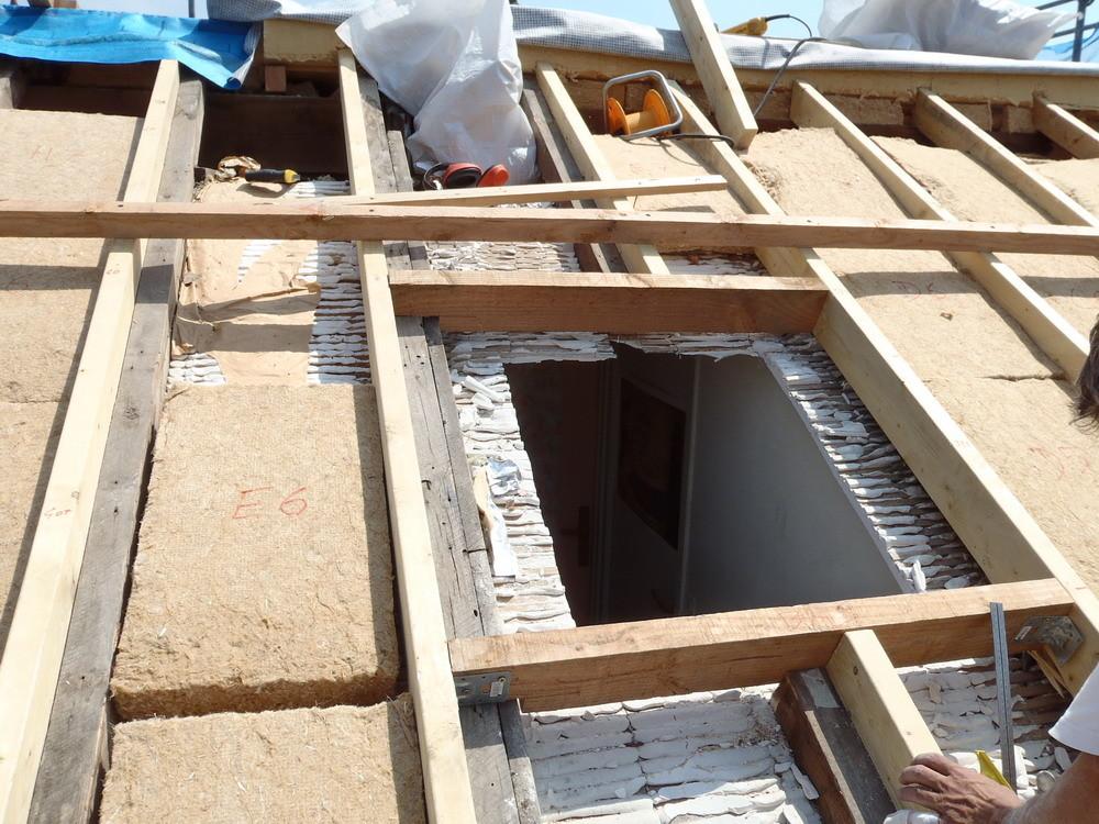 Création d'une fenêtre de toit dans l'existant