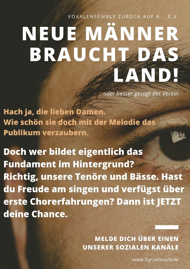 Bei Interesse schreibt uns über einen unserer sozialen Kanäle oder schickt eine E-Mail an: ZurueckaufA[at]web.de .