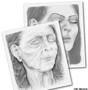 Alterungsprozess der Gesichtshaut