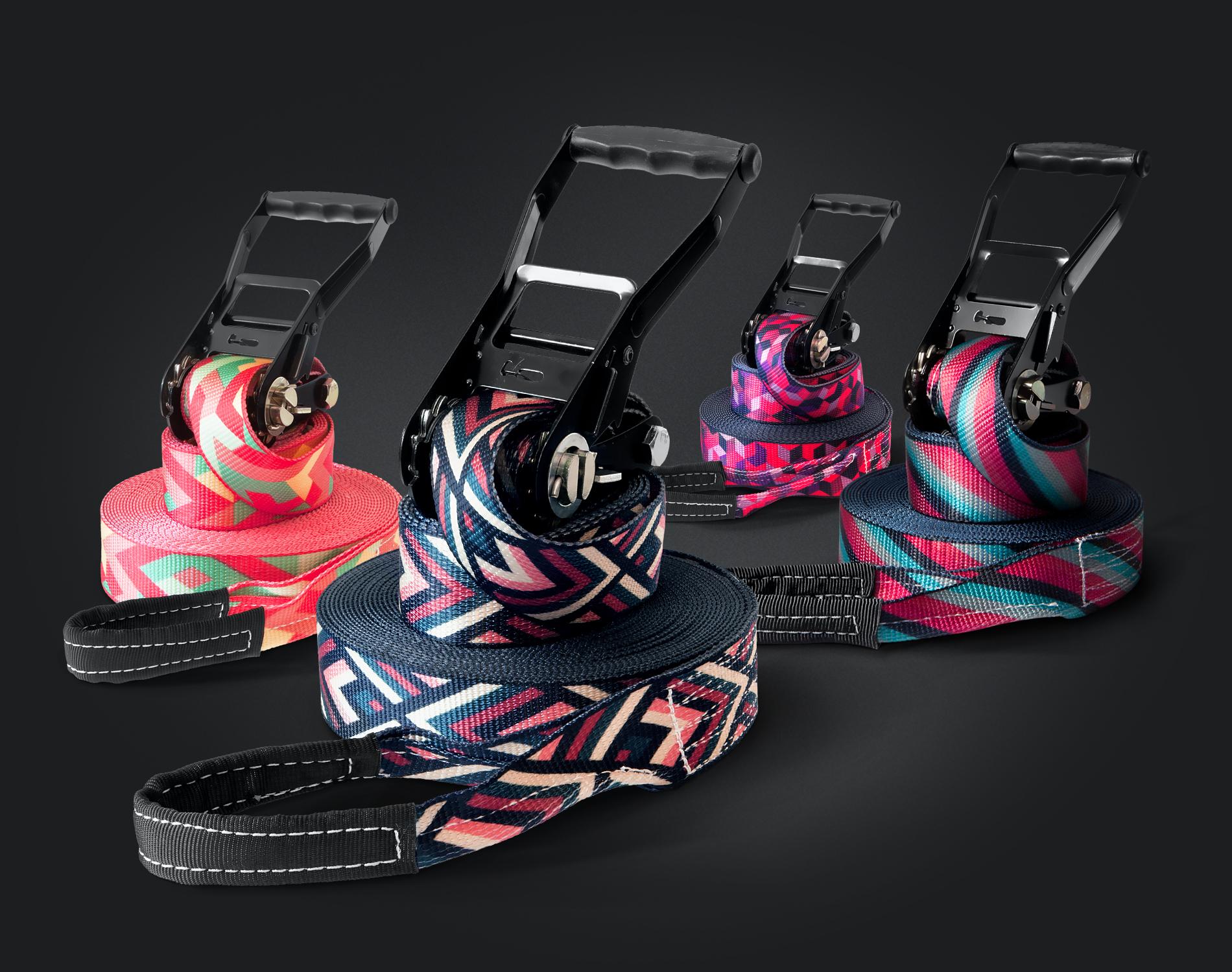 Slacklines in stylischem Design