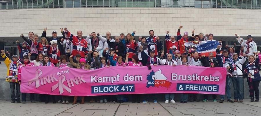 Auch die Fans unterstützen den Kampf gegen den Brustkrebs