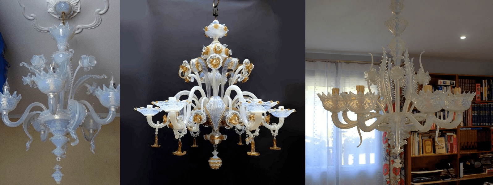red-Murano-glass-chandeliers