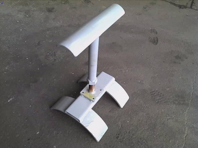 6mm、9mm鋼板 バンドソー切断時の鋼材の支え