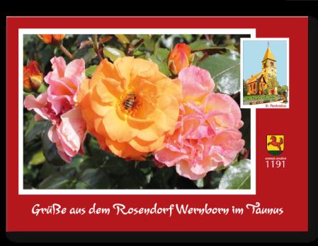 Postkarte Rosendorf Wernborn, St. Pankratius Wernborn