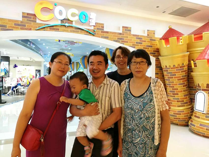 Chinesische Familie in Shenzhen, Provinz Guangdong, China