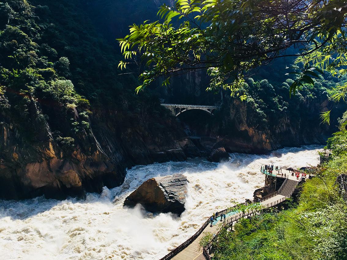 Tigersprung-Schlucht, Provinz Yunnan, China