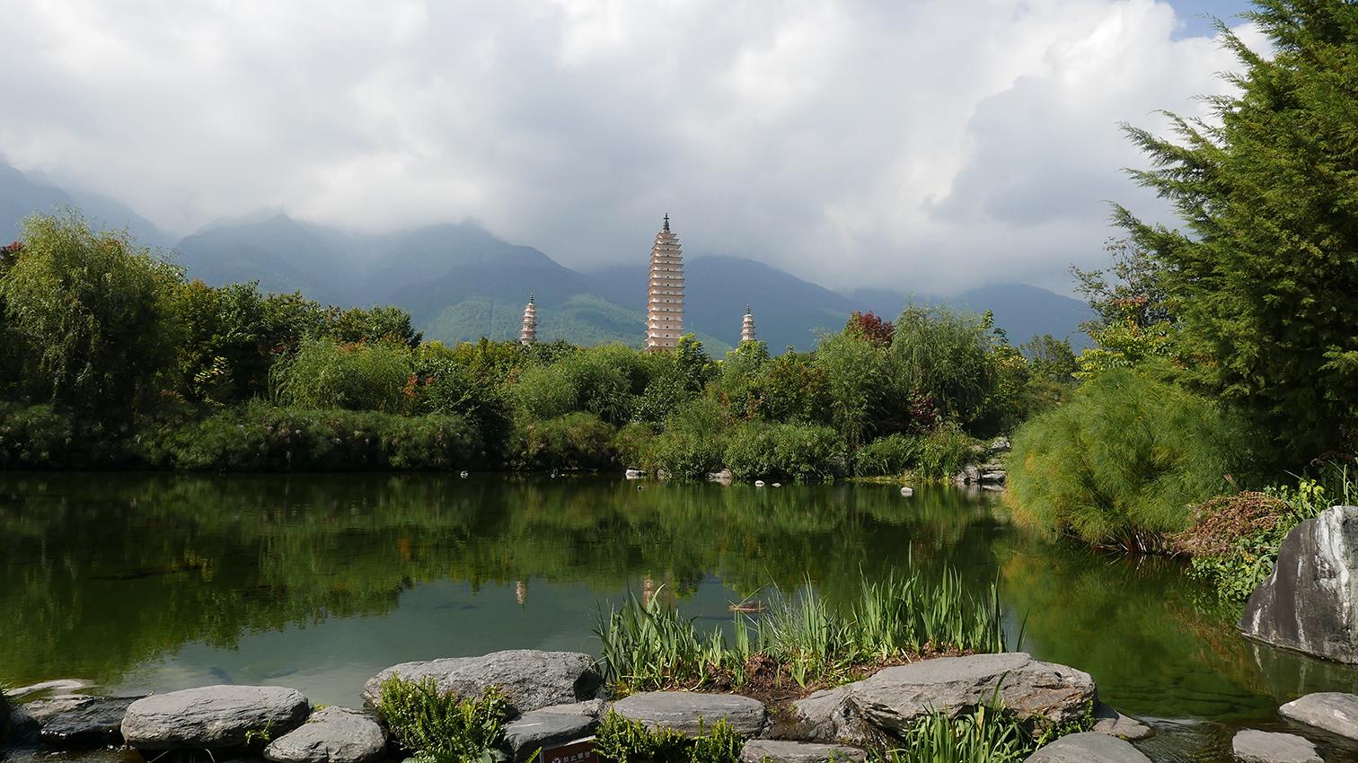 Drei Pagoden des Chongsheng-Tempels, Provinz Yunnan, China