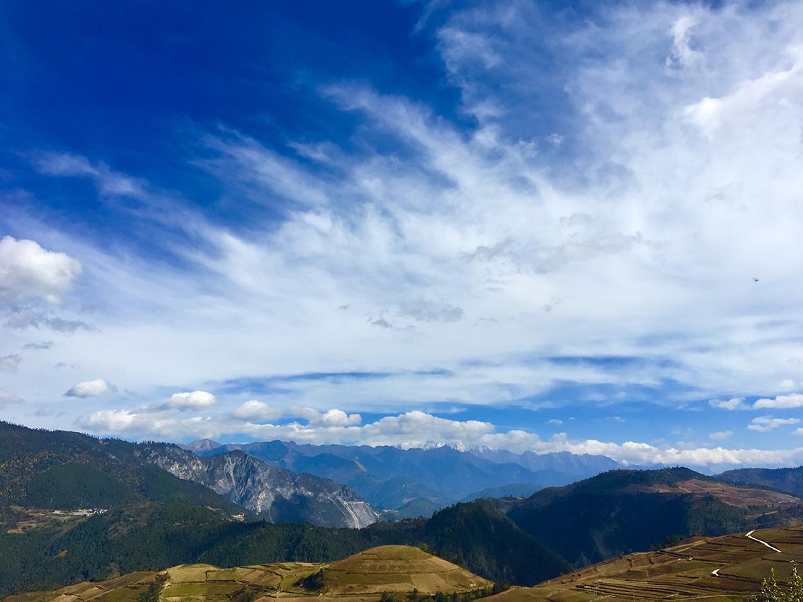 Hochland auf dem Weg nach Shangrila, Provinz Yunnan, China