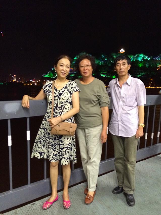 Chinesische Familie in Lanzhou, Provinz Gansu, China