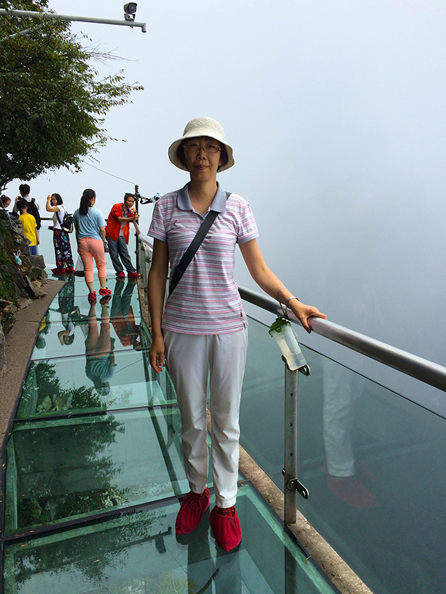 Skywalk, Tian-Men-Berg im Nationalpark Zhangjiajie, Provinz Hunan, China