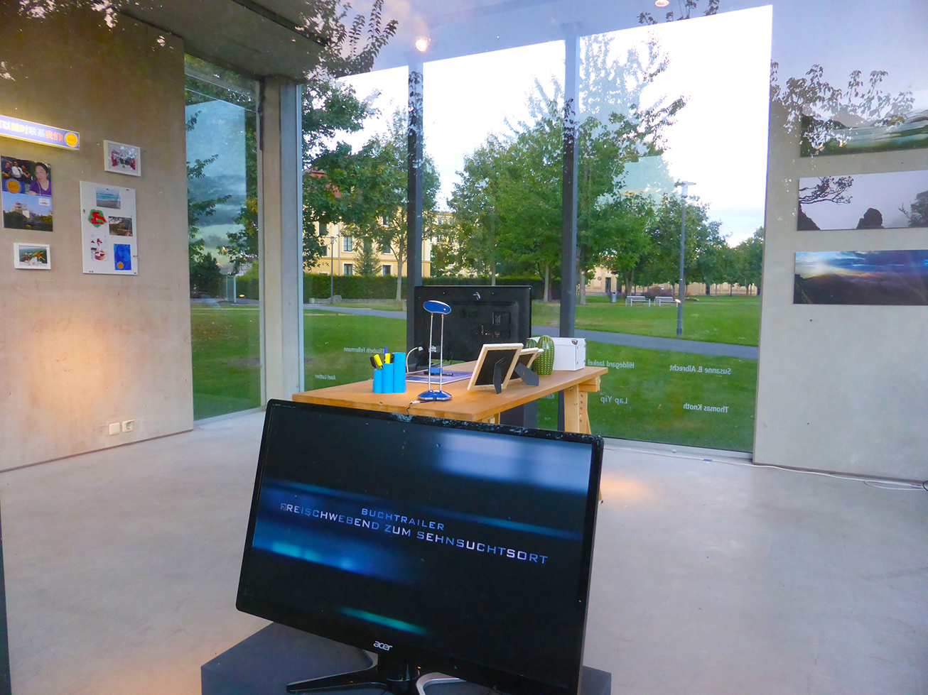 HIERFINDICHWASVERLAG • Temporäres Büro im Kunstpavillon Gera