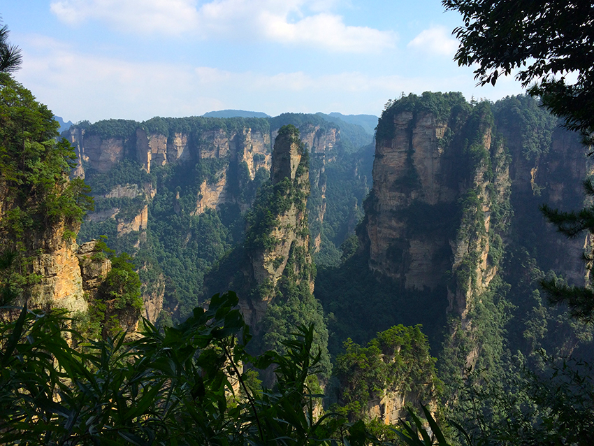 Tianzi-Berg im Nationalpark Zhangjiajie, Provinz Hunan, China