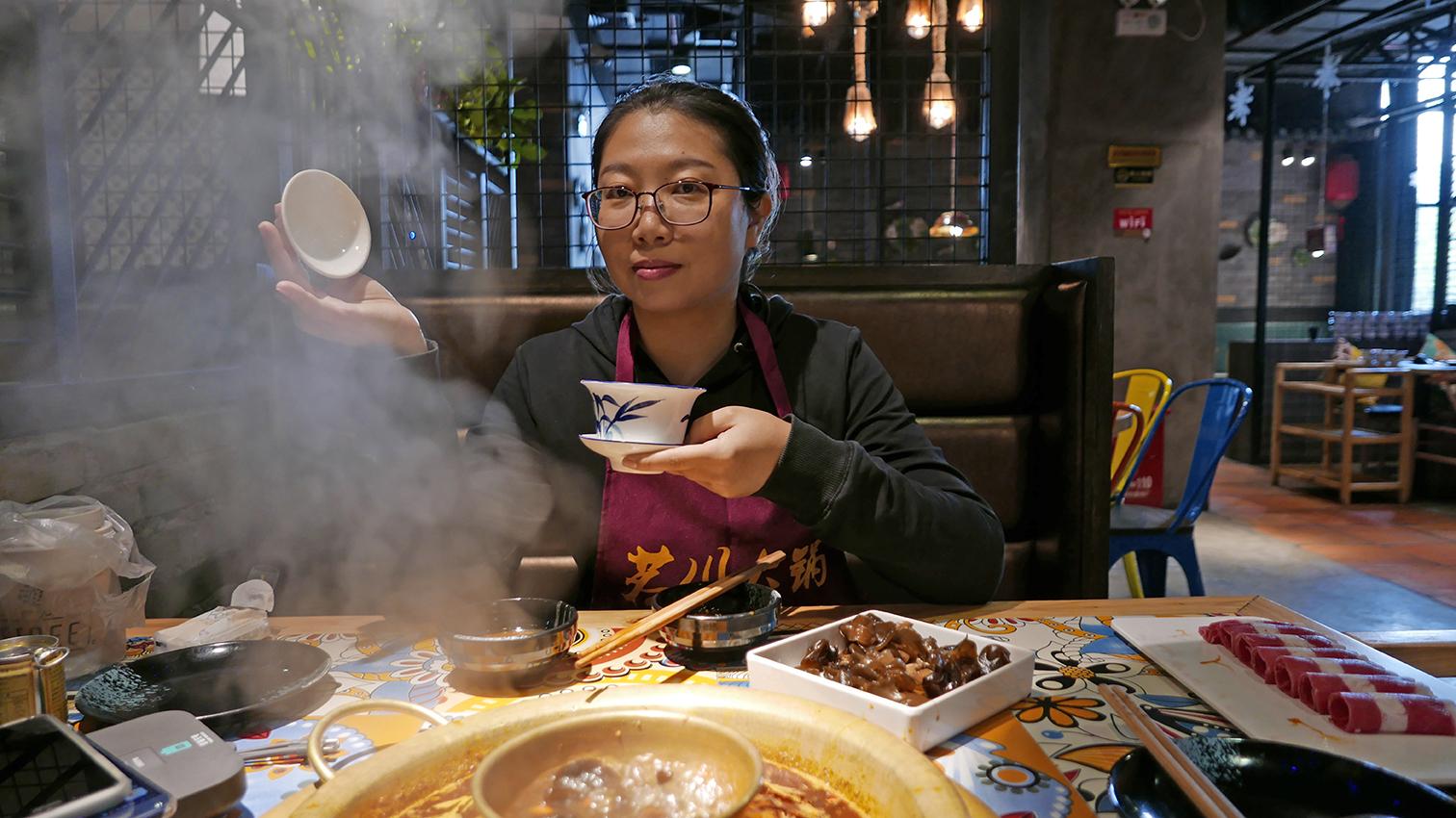 HotPot-Essen mit Liu Meizi, Shenzhen
