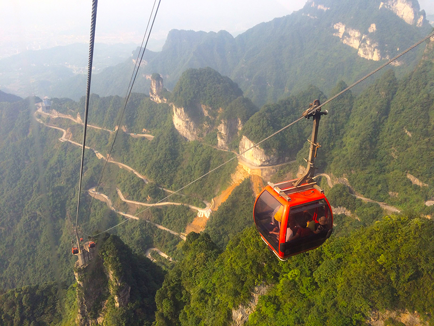 Tian-Men-Berg im Nationalpark Zhangjiajie, Provinz Hunan, China