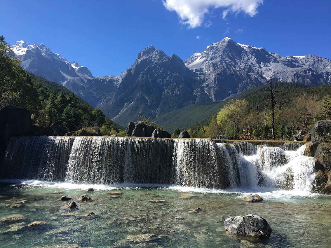 Jade-Drachen Schnee-Berg, Provinz Yunnan, China