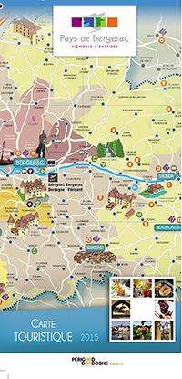 Nouveau une carte touristique et viticole l chelle du pays de bergerac le site des - Office du tourisme bergerac ...