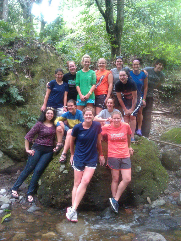 Taking a hike after white water rafting in the jungle. Beautiful!