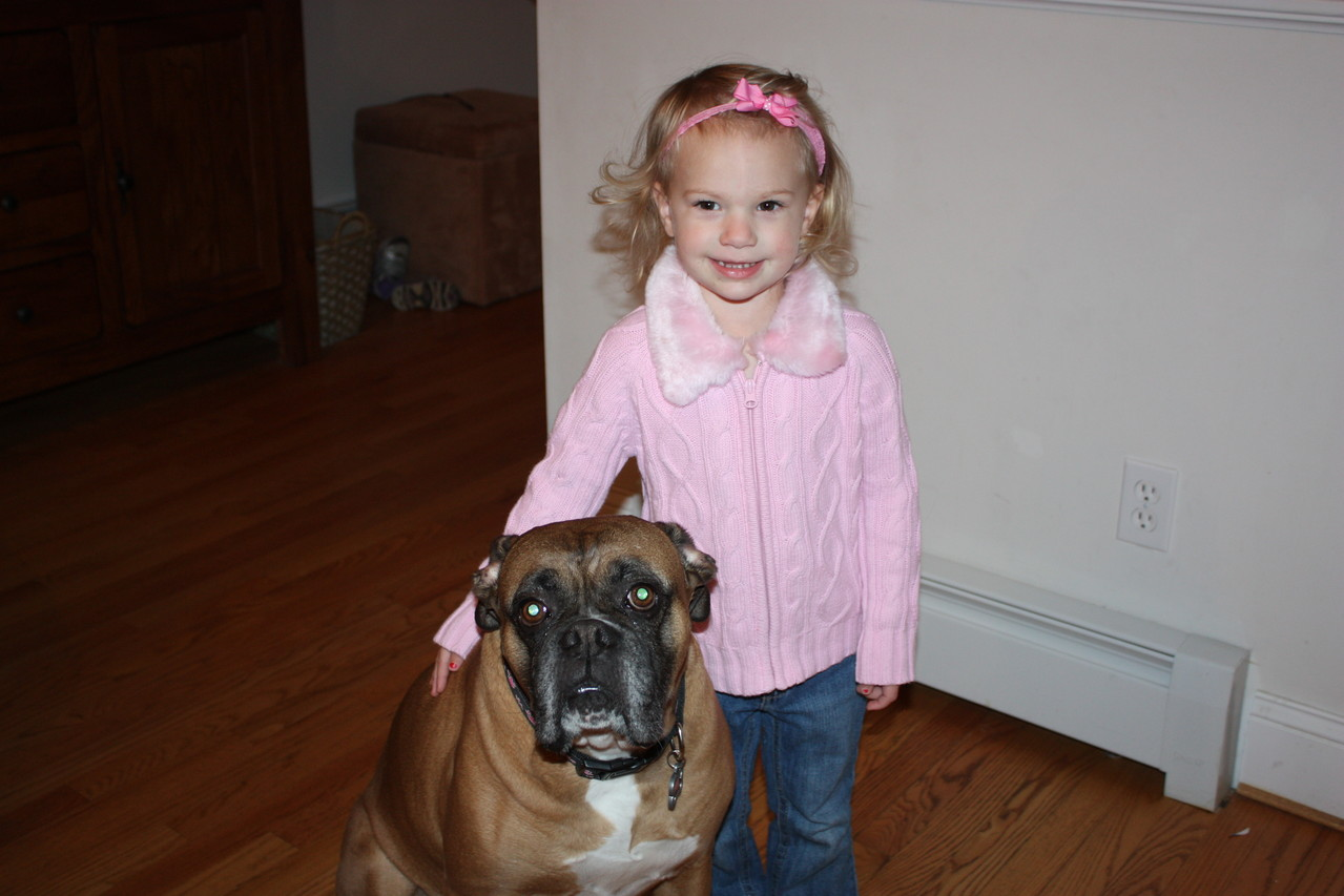 My brother's dog... Lucia was attached to this sweet dog the entire time in CT