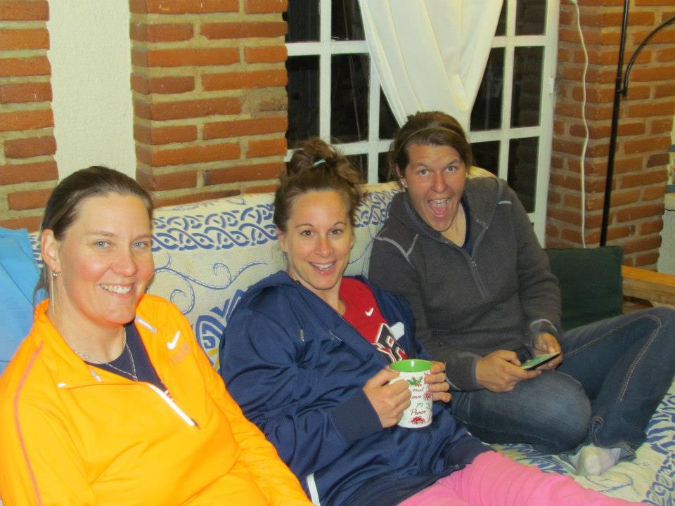 Hanging at one of the girls' apartment with our global care/stint coordinator.