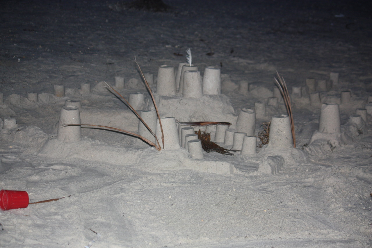 Sand castle competitions as an ice breaker.