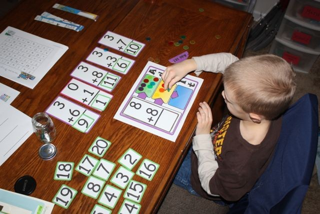 A math game I found online that I made through another homeschool website.