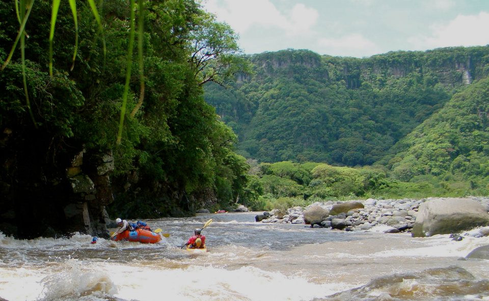 Now this was so peaceful when we weren't going down the rapids... the land was so beautiful!