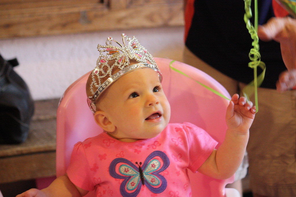The little princess (Thank you Danielle for the cute crown)