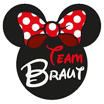 Junggesellinnenabschied - Team Braut Schleife Diseny