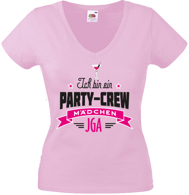 JGA Shirt Abschied Motiv Party-Crew Mädchen