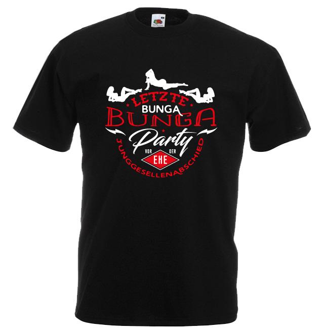 JGA Shirt Abschied Motiv Letzte Bunga Bunga Party