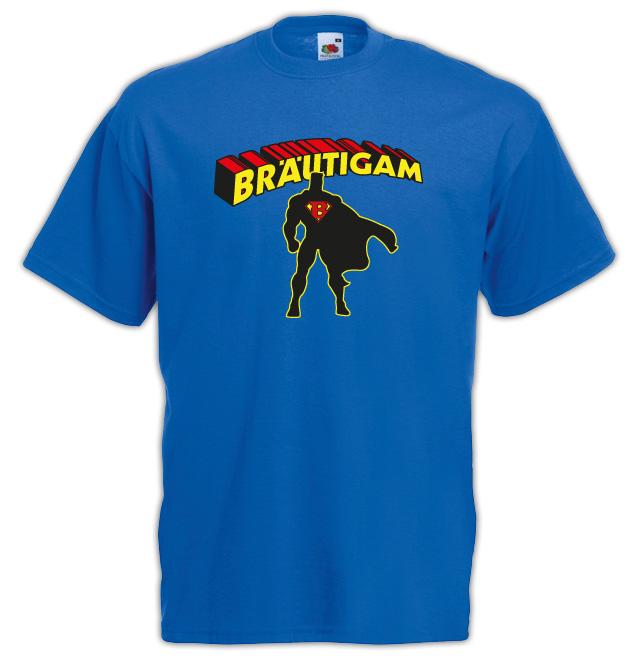 Junggesellenabschied  T-Shirt Motiv Superman Bräutigam