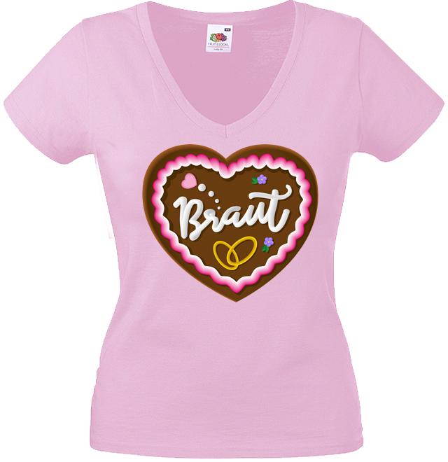 JGA Shirt Motiv Lebkuchenherz Braut