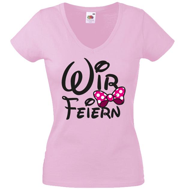 Junggesellinnenabschied T-Shirt Wir feiern