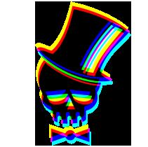 Junggesellenabschied - Glitch Skull
