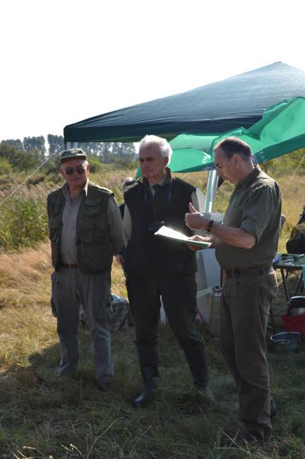 Richterteam und Prüfungsleiter – v.l.n.r.  Dr. Helmut Wiese, Manfred Lange, Waldfried Sutter
