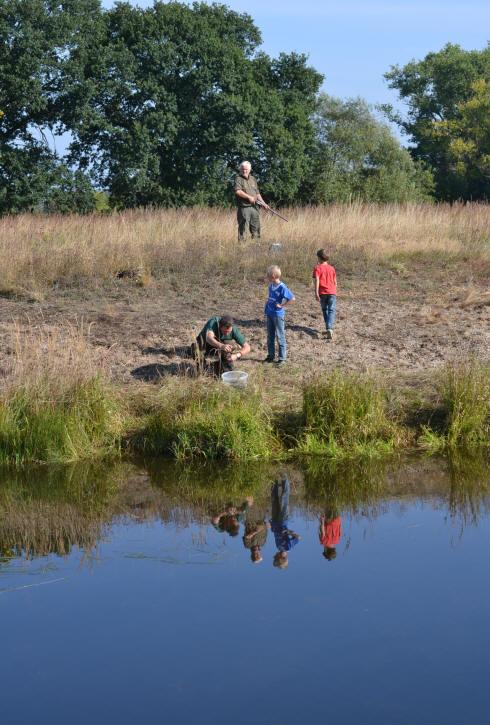 Spiegelbild Andreas, Bernd, Finley und Sinnesh stehen auf dem Kopf.