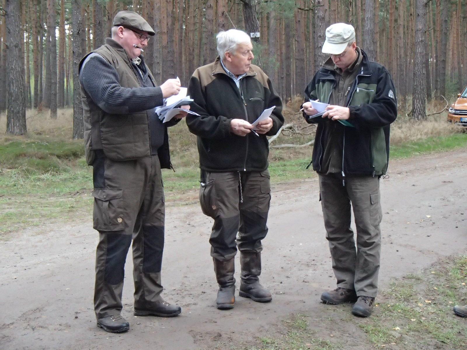 Das Richterteam, Rüdiger Baxa, Hans-Ulrich Köckeritz und Dirk Bölker.
